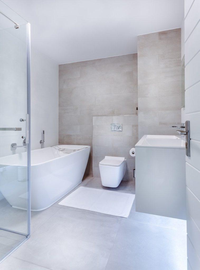 Łazienka - szkło montaż